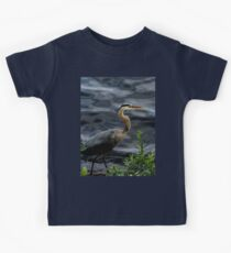 Great blue heron Kids Clothes