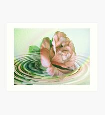swirling around Art Print