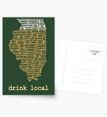 Drink Local - Illinois Beer Shirt Postcards