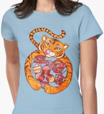 The Tiger Who Came To Tee Womens Fitted T-Shirt