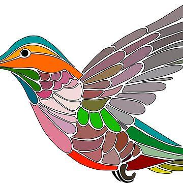 Colorful Hummingbird by Smaragdas