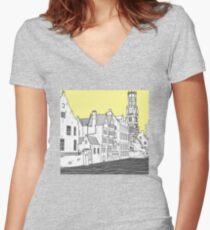 Bruges Women's Fitted V-Neck T-Shirt