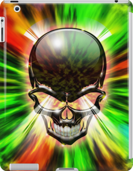 Crystal Skull on Psychedelic Flames by BluedarkArt