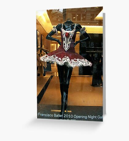 Ballerina Costume In S.F. Store Window Greeting Card