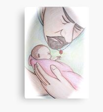 A Father's First Embrace Canvas Print