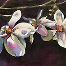 White Magnolia Flowers by Julie Ann Accornero