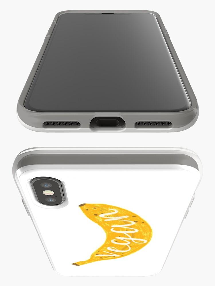 Alternate view of Vegan banana iPhone Case & Cover