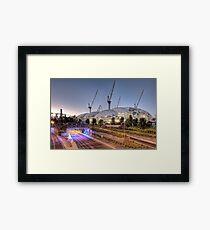 Melbourne Rectangular Stadium • Melbourne • Victoria Framed Print