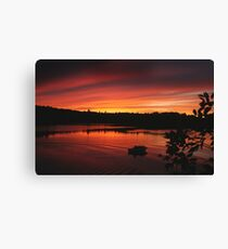 Visitors of the Sunset Canvas Print