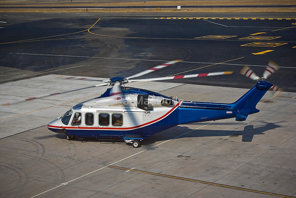 Agusta Westland AW139 Helicopter by RatManDude