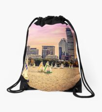 Sails, Boston, MA, USA Drawstring Bag