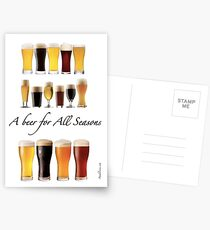 A beer for all season  Postcards