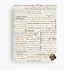 Lienzo Colección de insultos de Shakespeare - Edición revisada (por incognita)