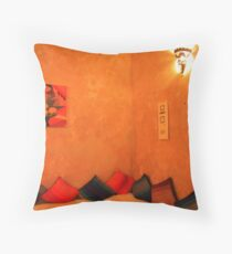 Sit a while, Moroccan style... Throw Pillow