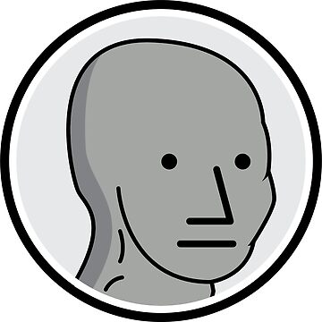 NPC Meme Sticker by unluckydevil