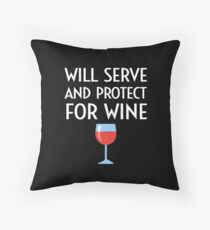 Funny Police Officer Policeman Policewoman Wine Gift Throw Pillow