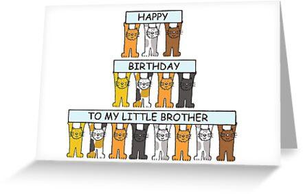 Happy Birthday Little Brother Cartoon Cats