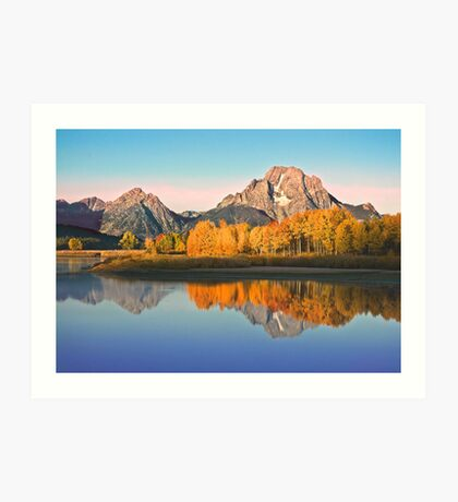 Mt Moran at Big Bend Art Print