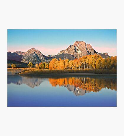 Mt Moran at Big Bend Photographic Print