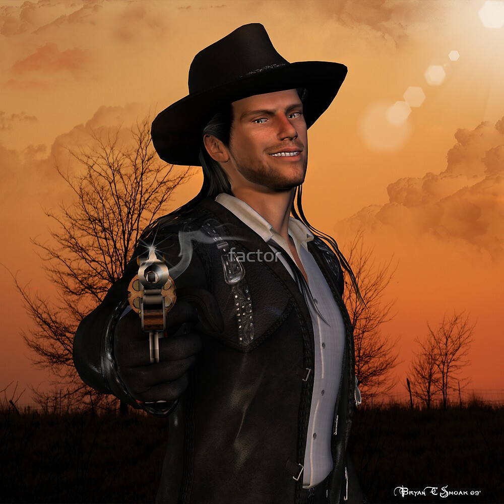 Tex - 3D Graphic Artwork Cowboy Western Outlaw by factor