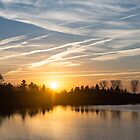 Painted by Airplanes - Stripes and Brushstrokes Daybreak Sky by Georgia Mizuleva