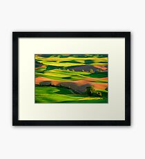 Palouse Patchwork Framed Print