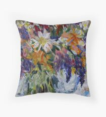 Flowers to Market  Throw Pillow