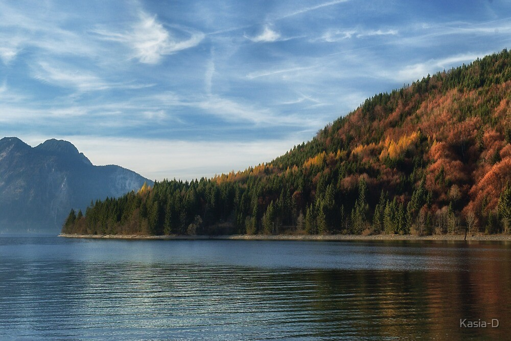Late Autumn Colours on Lake Walchen by Kasia-D
