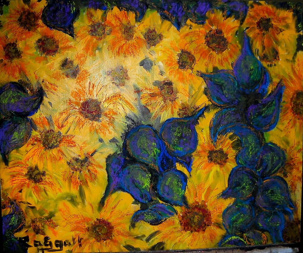 """Hey Vincent! More Sunflowers!!"" by Christopher  Raggatt"
