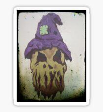 Scarecrow Horror Sketch Sticker
