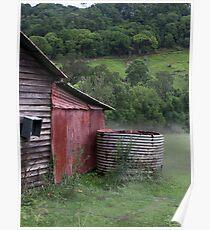 Currumbin Valley in the mist Poster