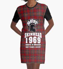 Sharp Skinheads - Tartan Graphic T-Shirt Dress