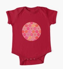 Pink Spice Honeycomb - Doodle Hexagon Pattern  Kids Clothes