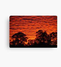Sun set over a city suburb Canvas Print