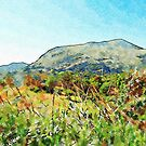 Calabrian landscape with mountain by Giuseppe Cocco