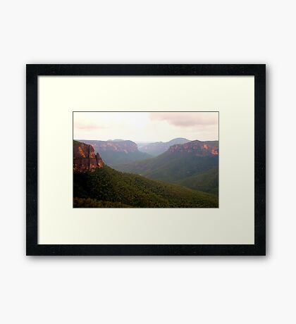 Govetts - Govetts Leap, Blue Mountains World Heritage Area - The HDR Experience Framed Print