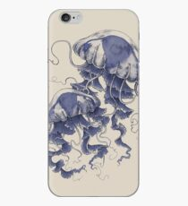Jellyfish: In Bloom (Blue) iPhone Case