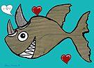Rhino Fish Valentine  by Juhan Rodrik