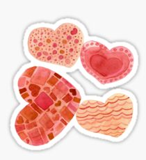 Abstract Hearts Sticker