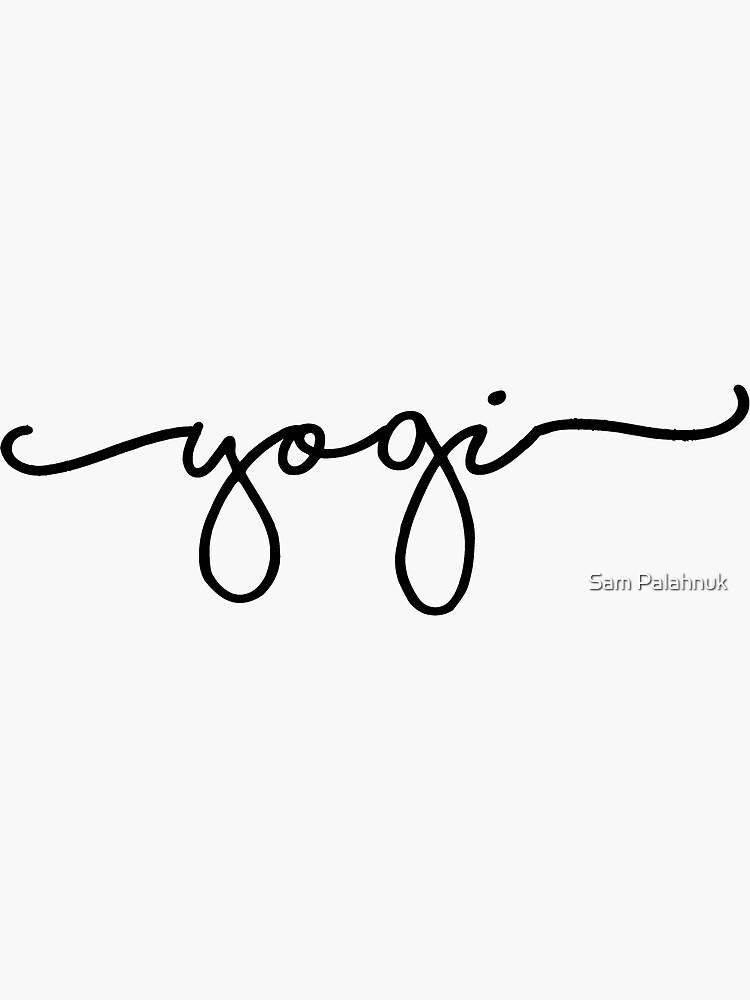 yogi sticker  by sampalahnukart