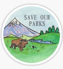 Save Our Parks! Sticker