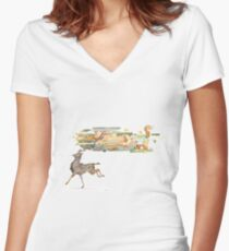 Keeper of Lands II Women's Fitted V-Neck T-Shirt
