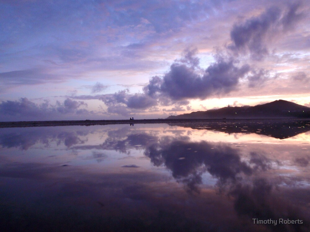 Reflective Chances - A Byron Bay Morning by Timothy Roberts