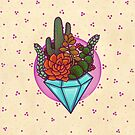 Diamonds and Succulents  by MoxxiFoxxy