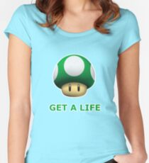 Get a life Women's Fitted Scoop T-Shirt