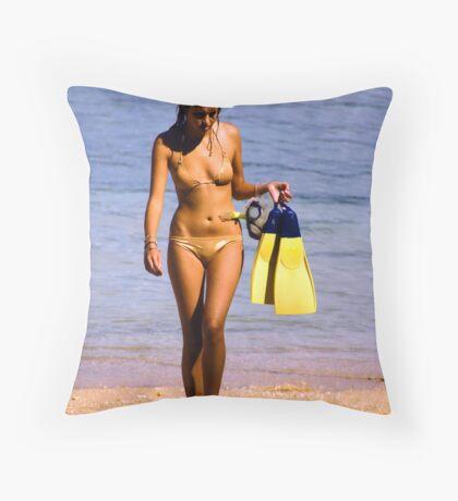 The Bond's Girl Throw Pillow