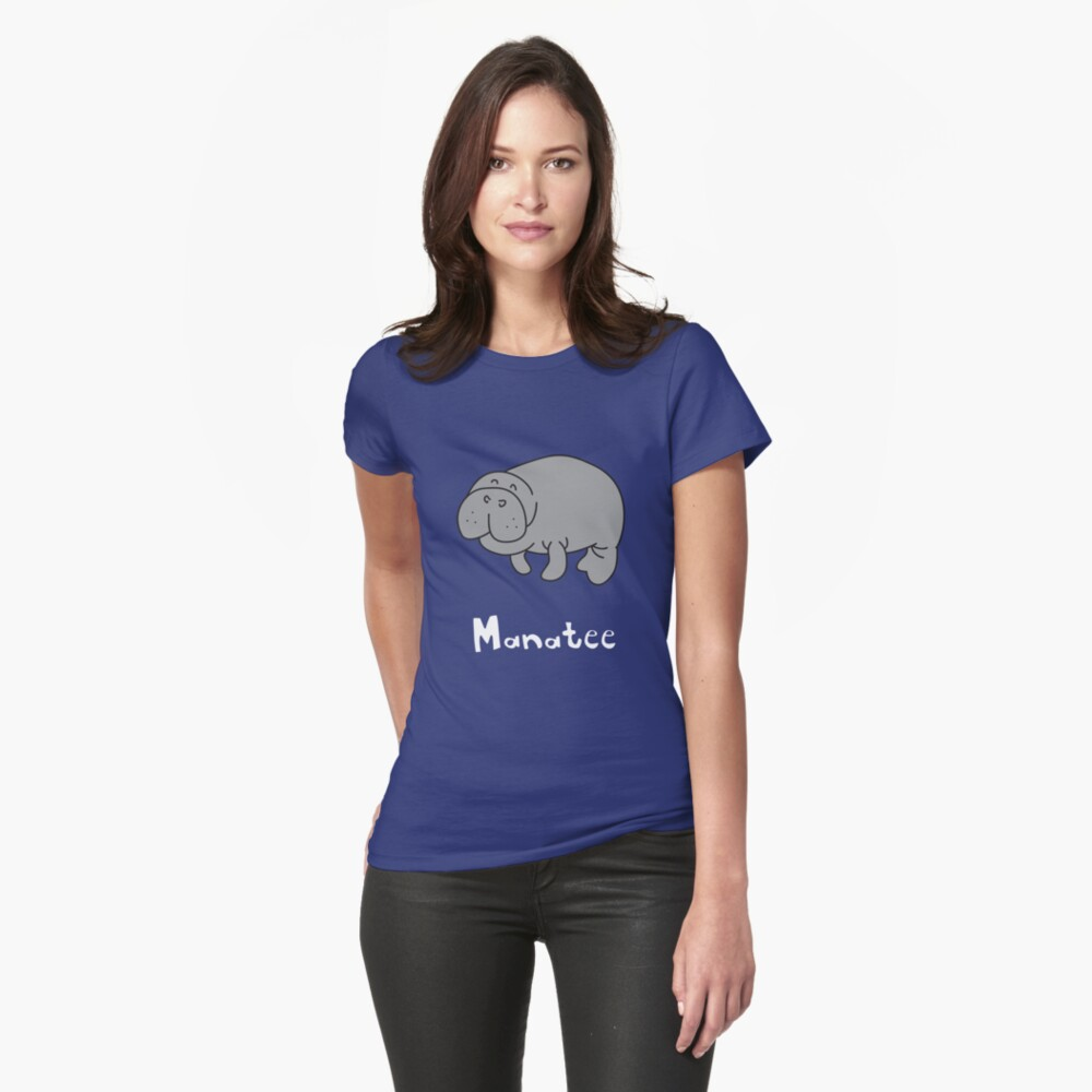 M for Manatee Womens T-Shirt Front
