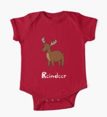 R for Reindeer One Piece - Short Sleeve