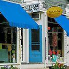 Barber Shop and Dress Shop by Susan Savad