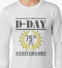 75-jähriges Jubiläum des D-Day 1944 - 2019 Langarmshirt